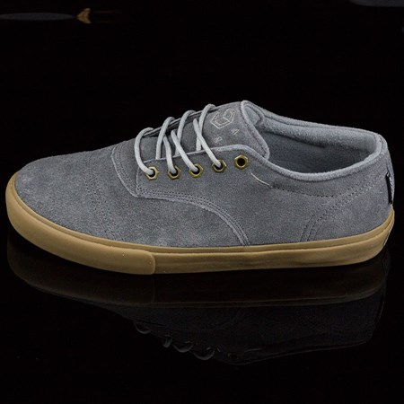Size 9 in Dekline Jaws Shoes, Color: Mid Grey, Gum