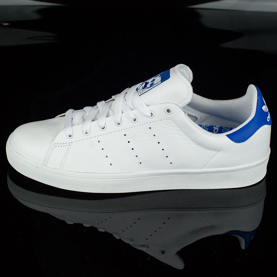 White, Bluebird Shoes Stan Smith Vulc Shoes in Stock Now