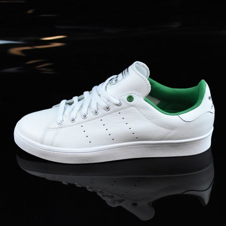 Size 8 in adidas Stan Smith Vulc Shoes, Color: Vintage White, Green