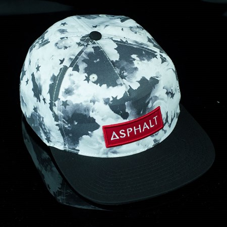 Asphalt Yacht Club Clash Snap Back Hat Black, White