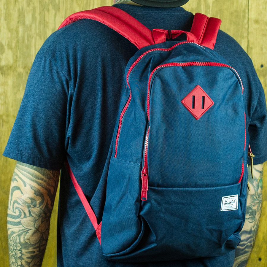 Navy, Red Backpacks and Bags Nelson Backpack in Stock Now