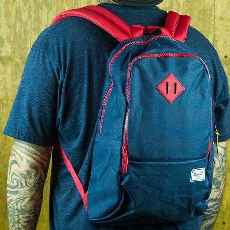 Herschel Nelson Backpack Navy, Red