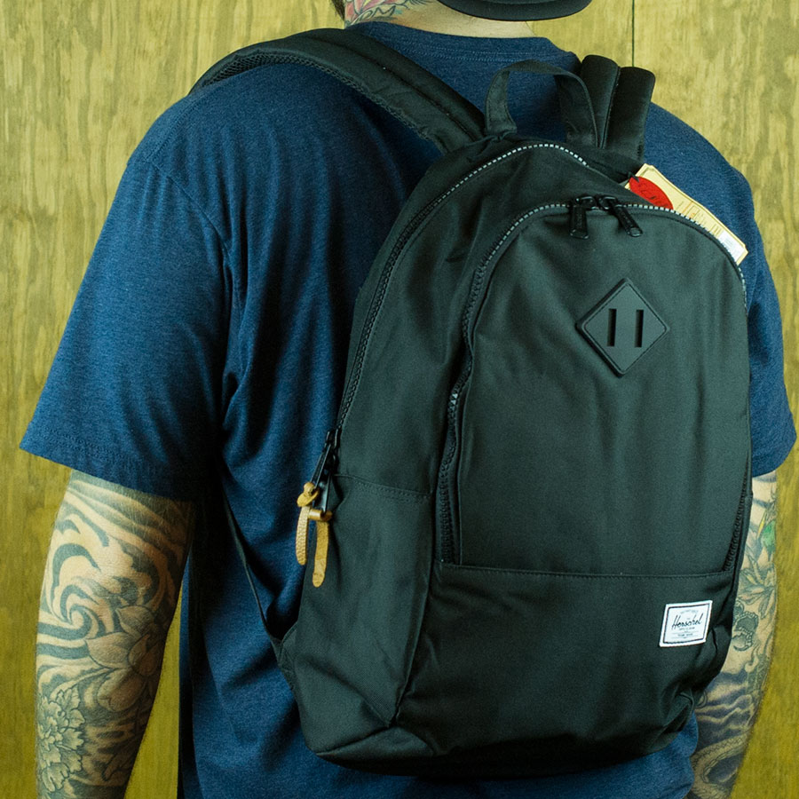 Black Backpacks and Bags Nelson Backpack in Stock Now