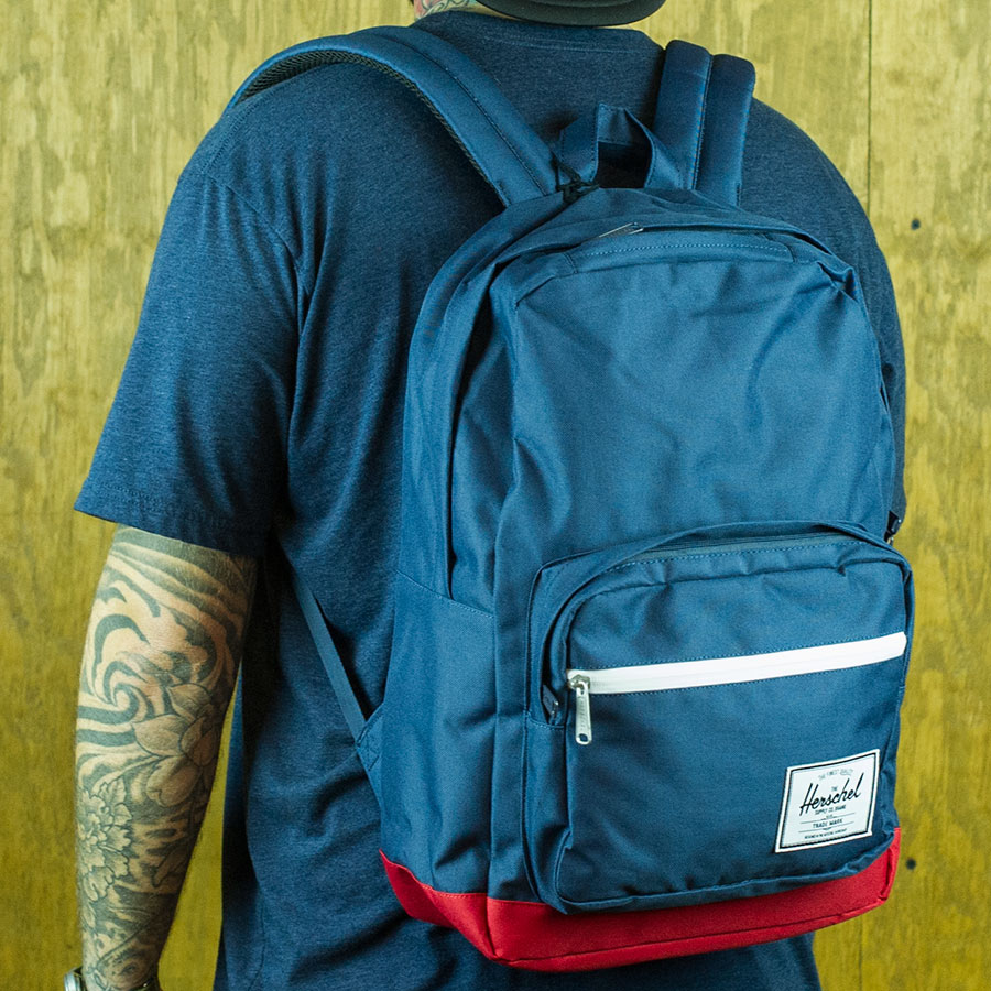 Navy, Red Backpacks and Bags Pop Quiz Backpack in Stock Now