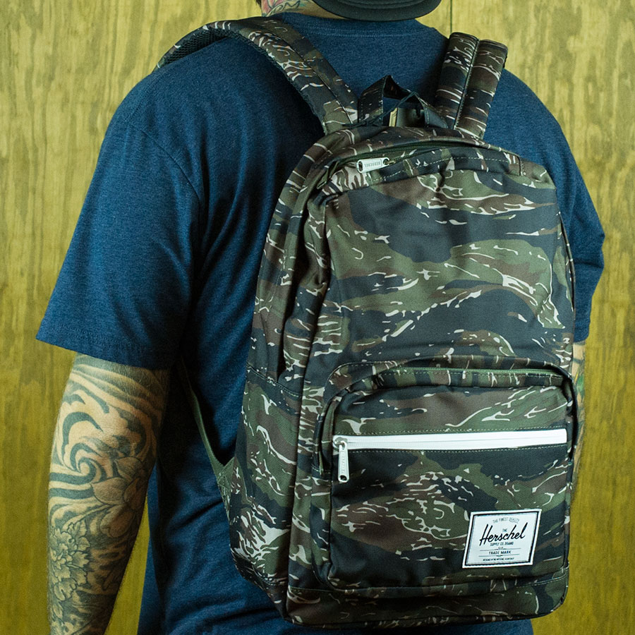 Tiger Camo Backpacks and Bags Pop Quiz Backpack in Stock Now