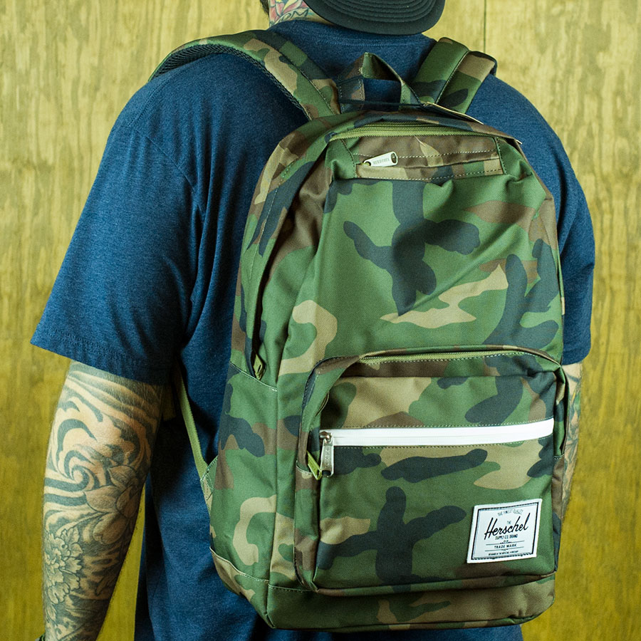 Woodland Camo Backpacks and Bags Pop Quiz Backpack in Stock Now