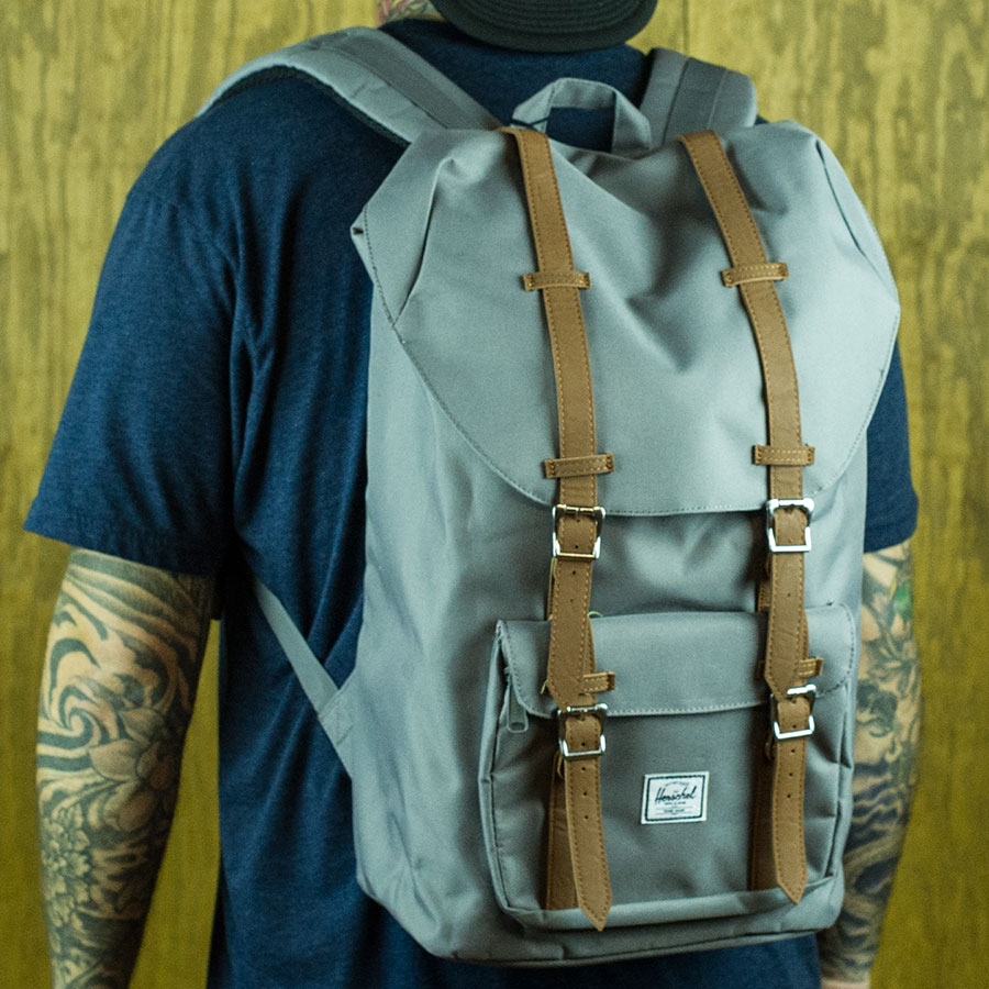 Grey Backpacks and Bags Little America Backpack in Stock Now