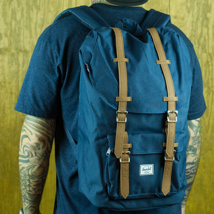 Navy Backpacks and Bags Little America Backpack in Stock Now