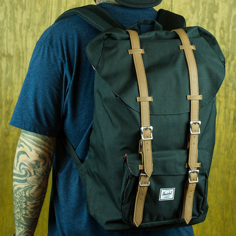 Black Backpacks and Bags Little America Backpack in Stock Now