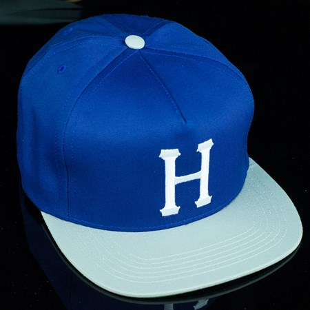 HUF Classic H Snap Back Hat Blue, Grey in stock now.