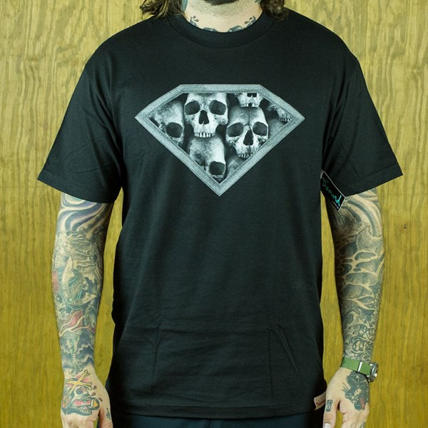 Diamond DMND Skulls T Shirt Black