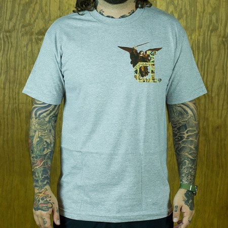 Diamond Un-Polo Angel T Shirt Heather Grey in stock now.