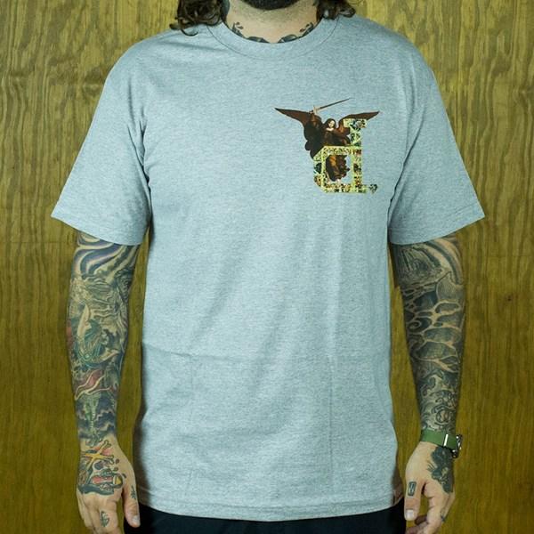Diamond Un-Polo Angel T Shirt Heather Grey