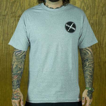 Diamond Lightning T Shirt Heather Grey in stock now.