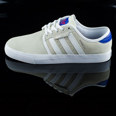 Size 9.5 in adidas Seeley Shoes, Color: White, Royal, Gum, Donnelly