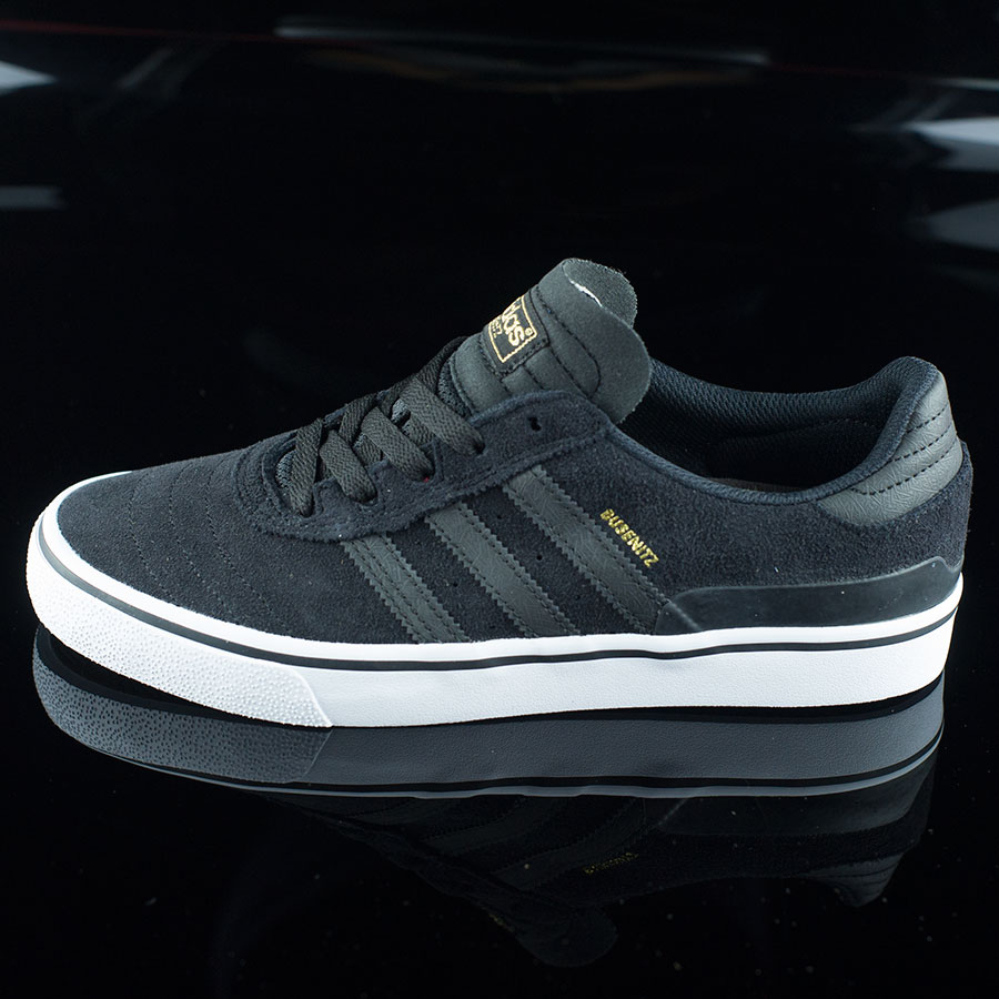 Black, Black, White Shoes Dennis Busenitz Vulc Shoes in Stock Now