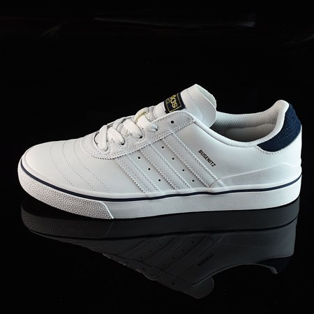 Size 10.5 in adidas Dennis Busenitz Vulc Shoes, Color: Running White, White, Navy