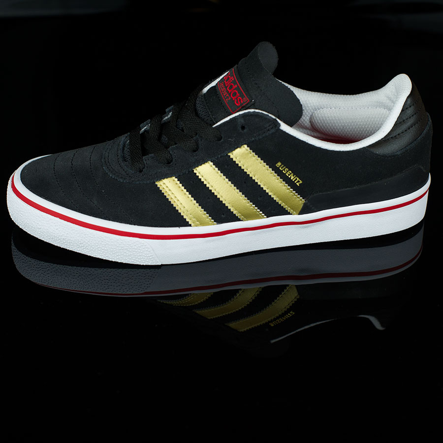 Black, Metallic Gold, Scarlet Shoes Dennis Busenitz Vulc Shoes in Stock Now