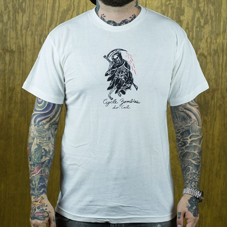 Cycle Zombies Reaper T Shirt White