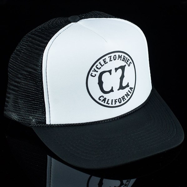 Cycle Zombies California Standard Trucker Hat Black, White