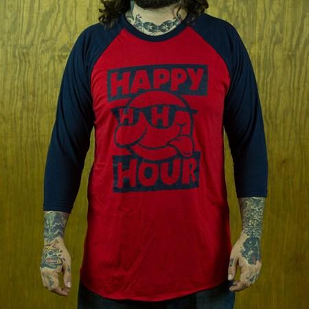 Happy Hour Shades Sonny Baseball T Shirt Navy, Red