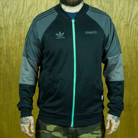adidas adidas X Krooked Reversible Track Jacket Black, Solo Mint