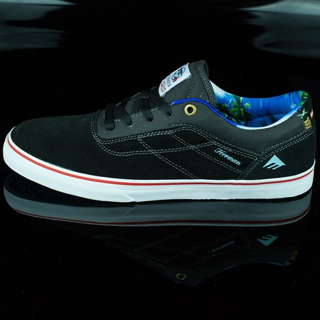 Size 11.5 in Emerica Emerica X Happy Hour Herman G6 Vulc Shoes, Color: Black, White
