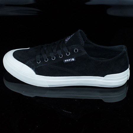 Size 9 in HUF Classic Lo Shoes, Color: Black, Bone