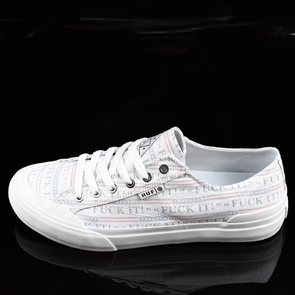 HUF Classic Lo Shoes Fu-k It, White