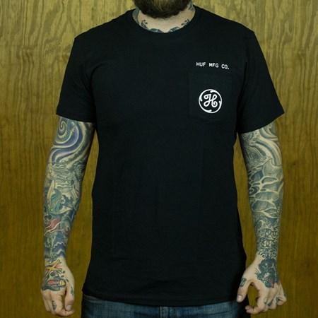 HUF Watt Up T Shirt Black in stock now.