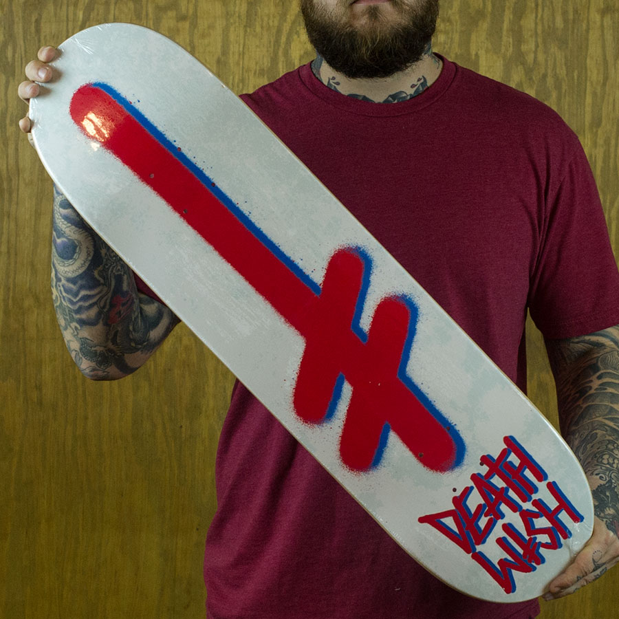 Concrete Red Decks Gang Logo Deck in Stock Now