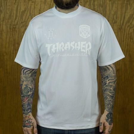 HUF HUF X Thrasher Soccer Jersey White