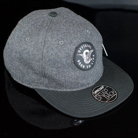 The Official Brand JT Eagle Wool Snap Back Hat Grey, Black