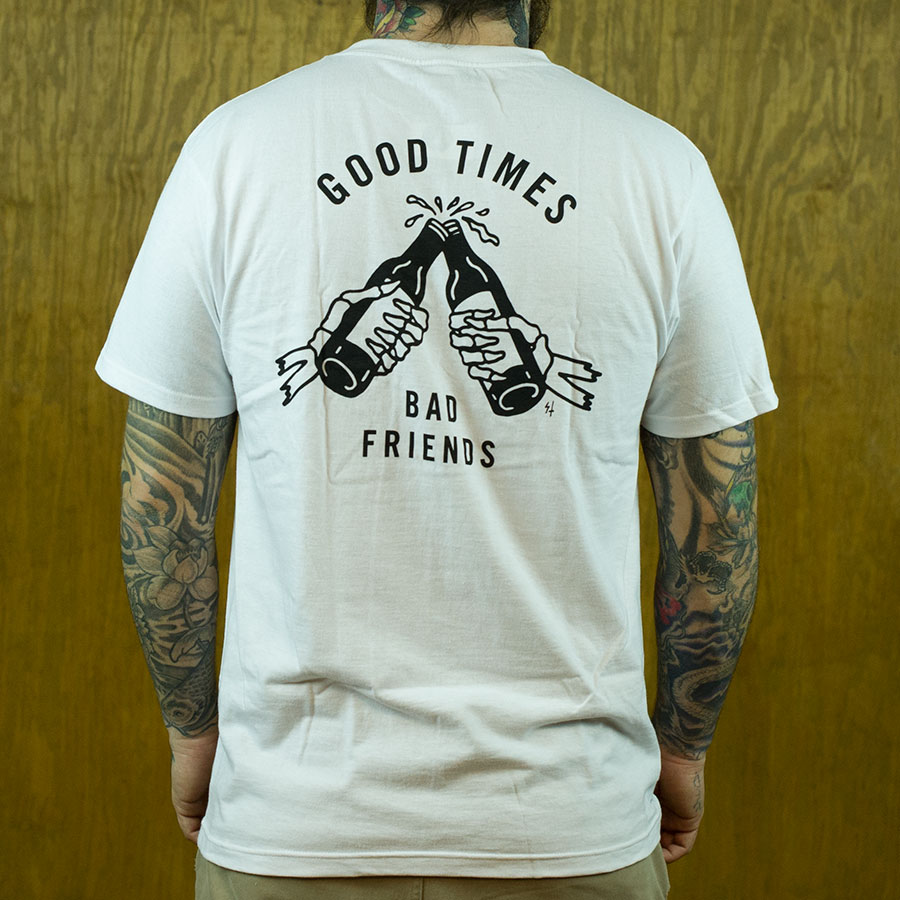 White T Shirts Good Times T Shirt in Stock Now
