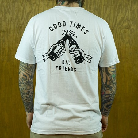 Sketchy Tank Good Times T Shirt White