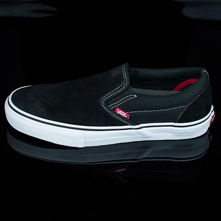 Size 11 in Vans Slip On Pro Shoes, Color: Black, White, Red
