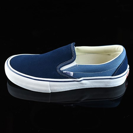 Size 10.5 in Vans Slip On Pro Shoes, Color: Navy Two Tone