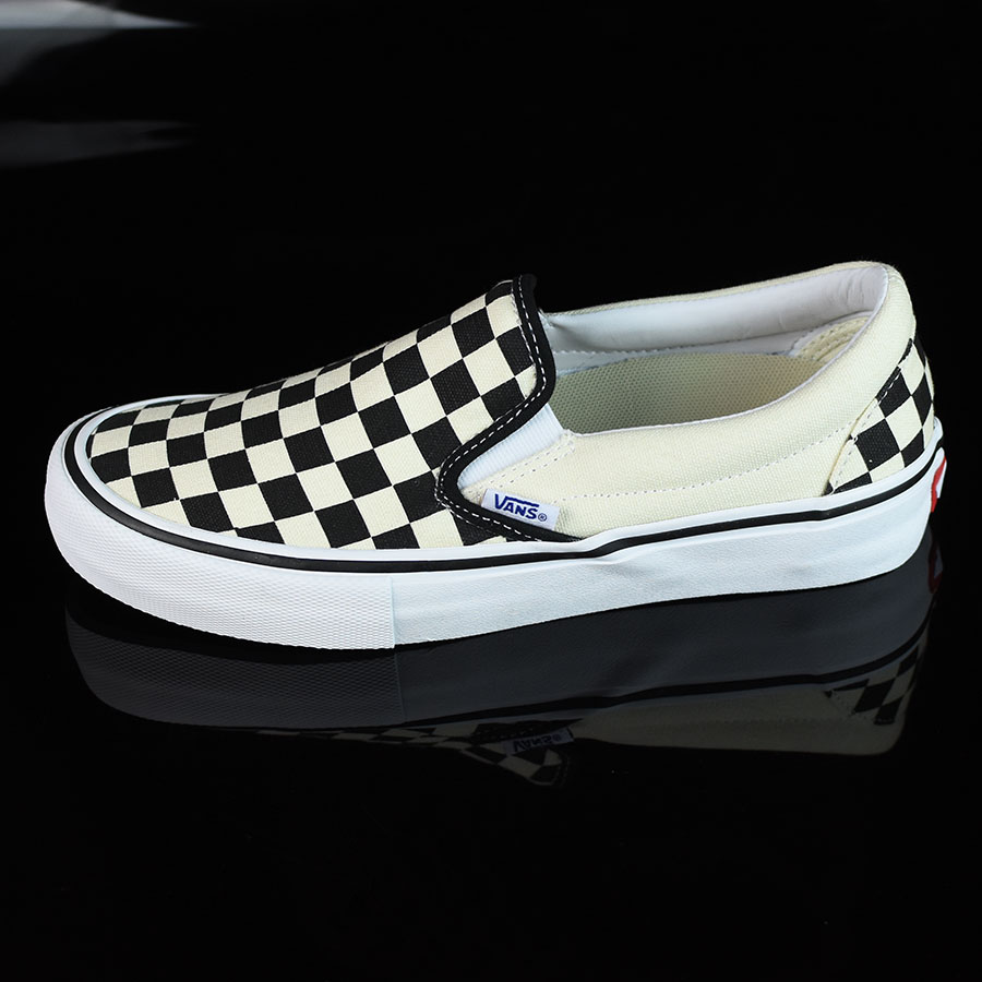 Black, White, Checkerboard Shoes Slip On Pro Shoes in Stock Now