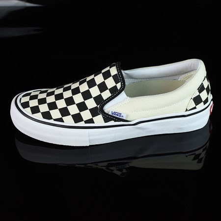 Size 10.5 in Vans Slip On Pro Shoes, Color: Black, White, Checkerboard