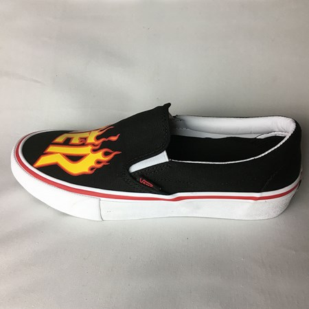Size 11 in Vans Slip On Pro Shoes, Color: Black (Thrasher)