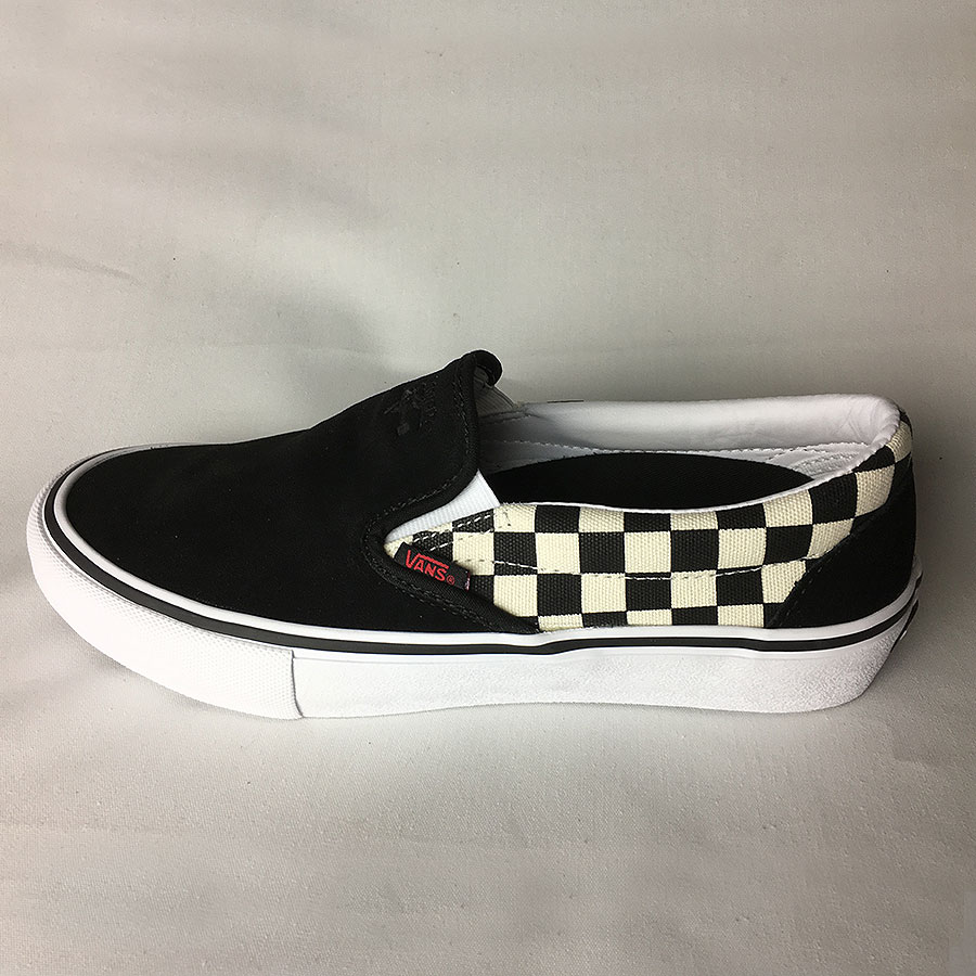 Black, Checkered, Black (Thrasher) Shoes Slip On Pro Shoes in Stock Now