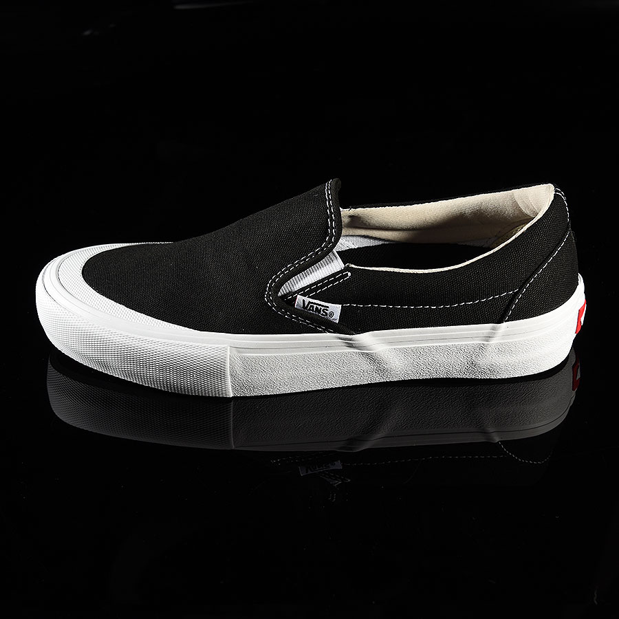 Black, White, Toe-Cap Shoes Slip On Pro Shoes in Stock Now