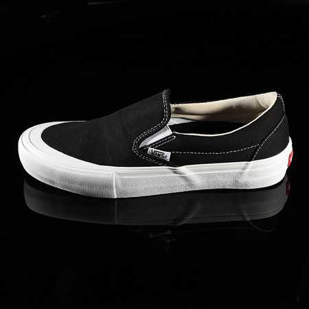 Vans Slip On Pro Shoes Black, White, Toe-Cap