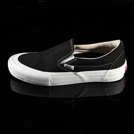 Size 7 in Vans Slip On Pro Shoes, Color: Black, White, Toe-Cap