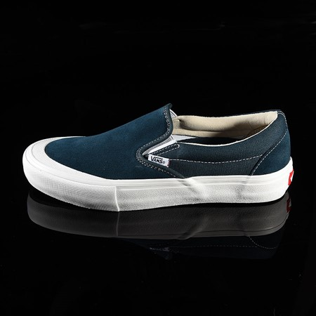 Size 10.5 in Vans Slip On Pro Shoes, Color: Reflecting Pond, Toe-Cap