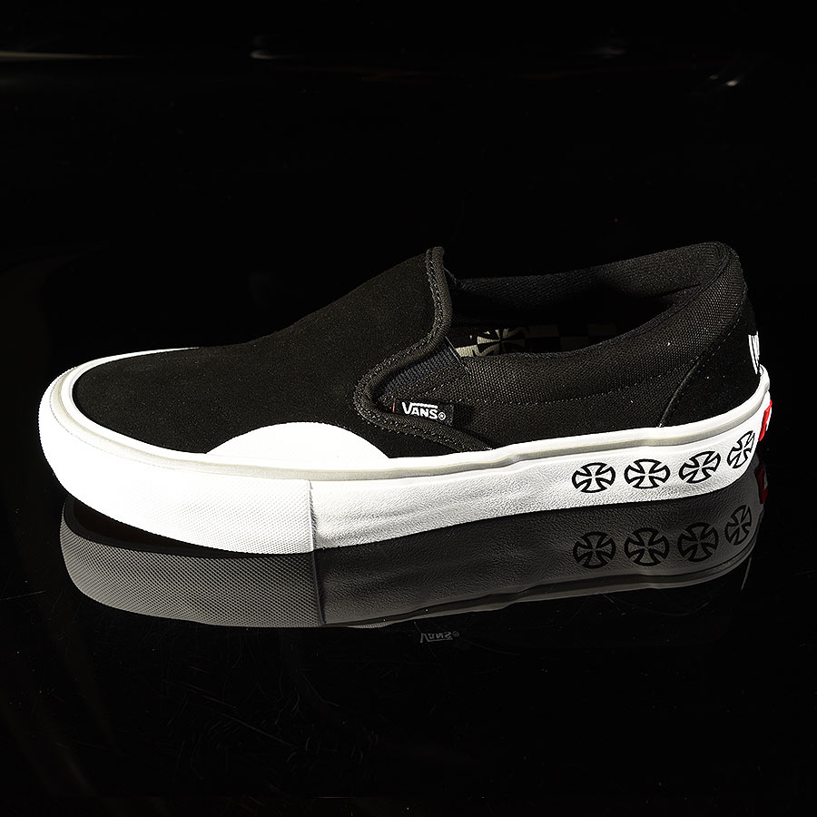 Independent, Black Shoes Slip On Pro Shoes in Stock Now
