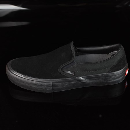 Size 10.5 in Vans Slip On Pro Shoes, Color: Blackout