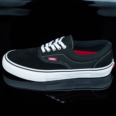 Vans Era Pro Shoes Black, White, Red