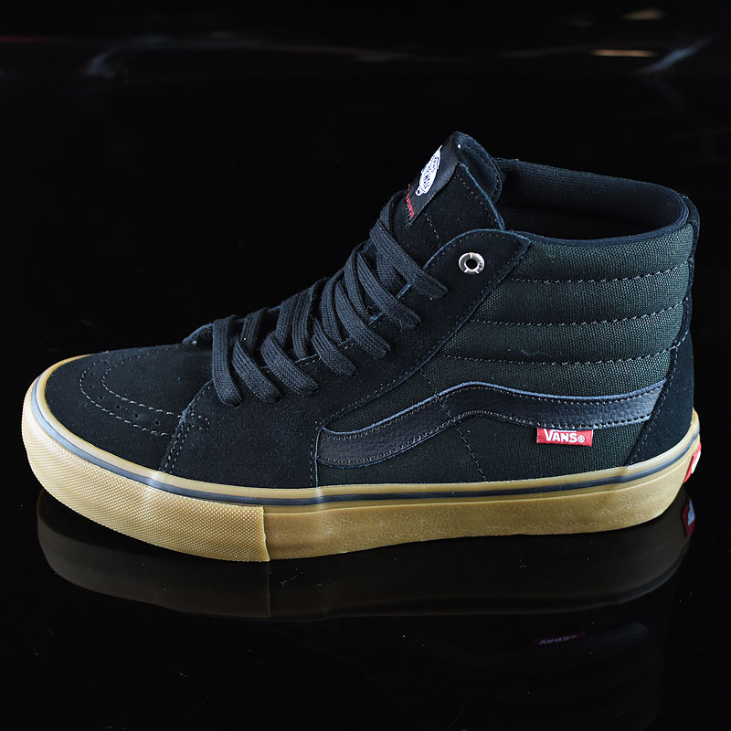 Black, Gum Shoes Sk8-Hi Pro Shoes in Stock Now