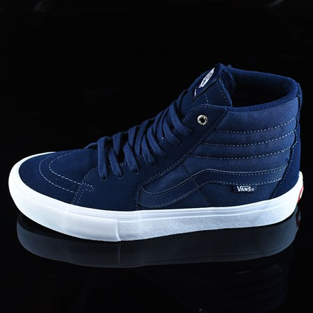Size 9 in Vans Sk8-Hi Pro Shoes, Color: Navy, Navy, White